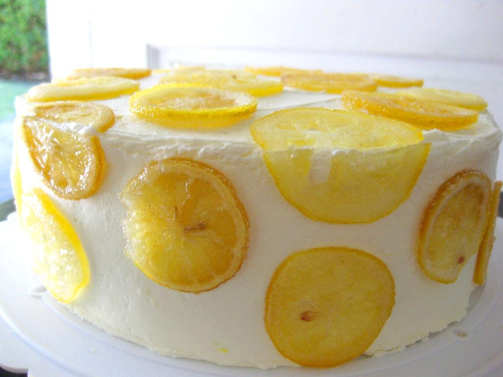 Upside Down Lemon Blueberry Cake