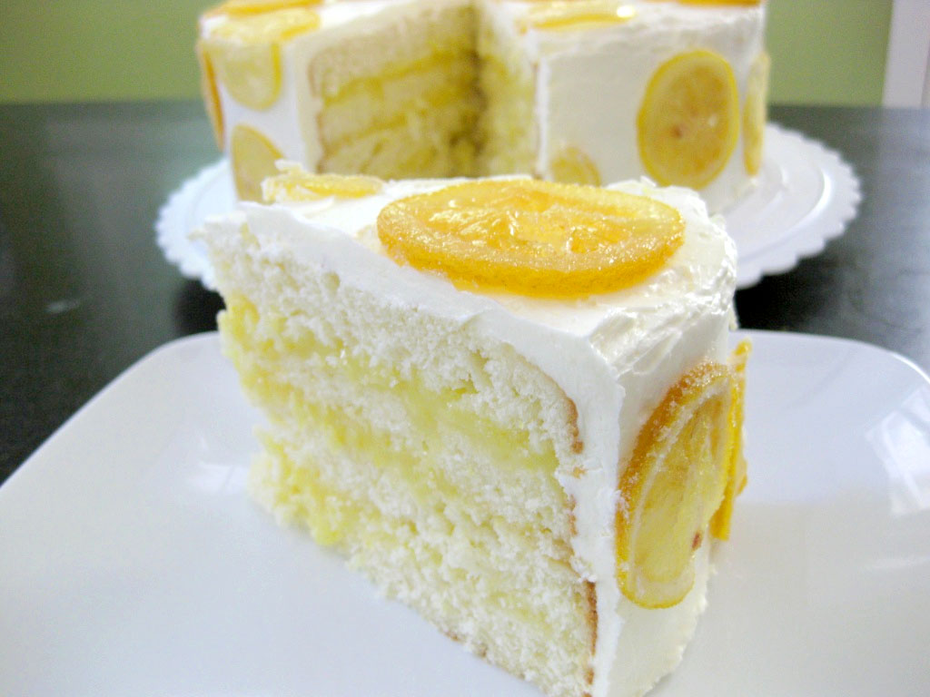 Recipe for a round lemon cake