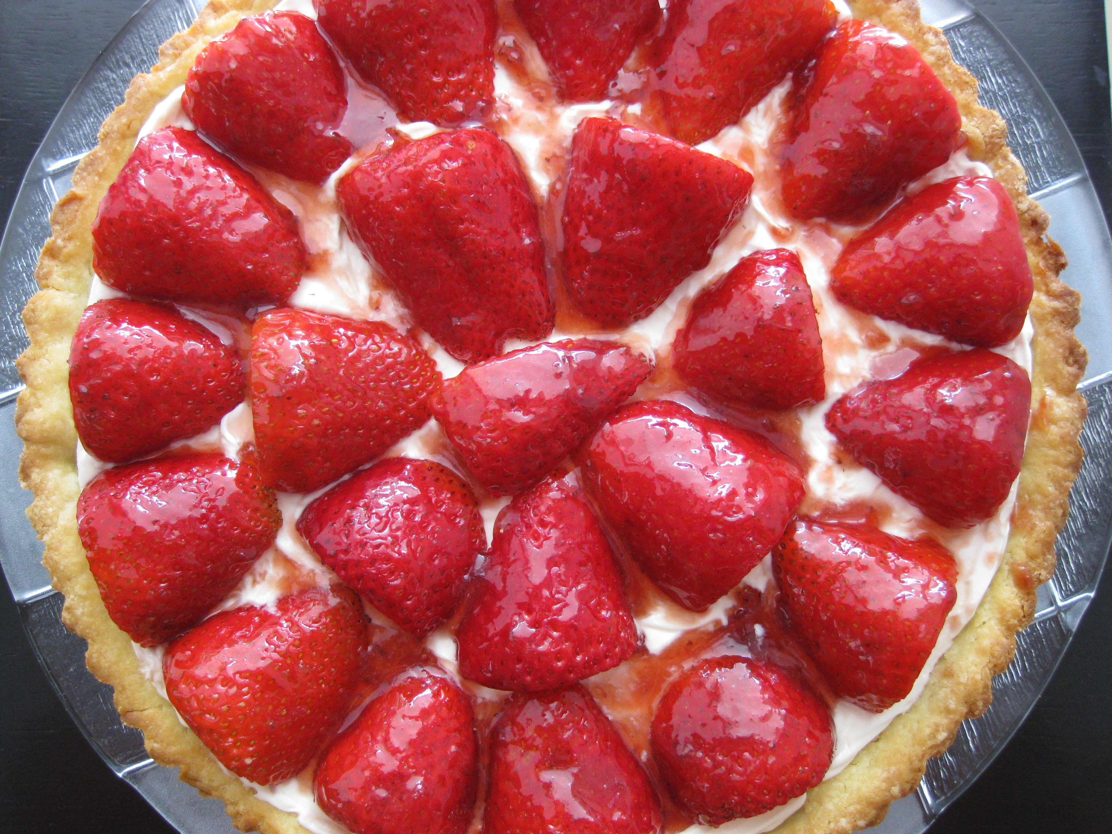 Strawberry and Mascarpone Cream Tart | Red Spatula Diaries